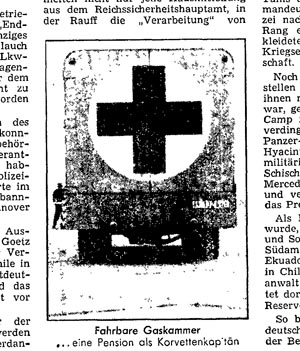 Fake Gas Van, taken from: Der Spiegel, no. 4, 23 January 1963, p. 30