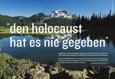 den holocaust hat es nie gegeben, holocaust never happened