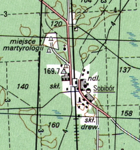 Postwar topographical map