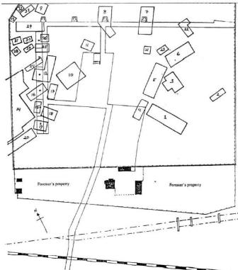 Belzec map showing mass graves