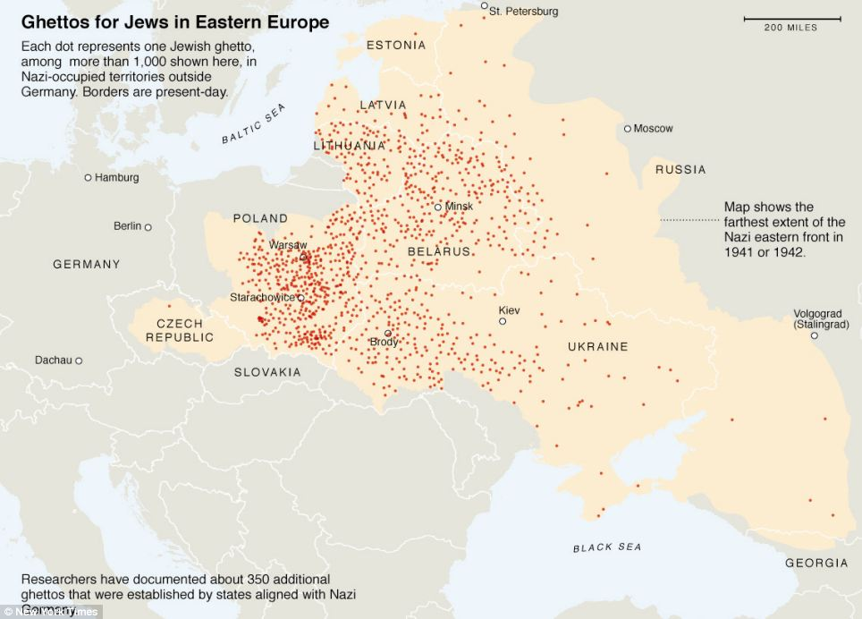 WWII Jewish Ghettos in Eastern Europe