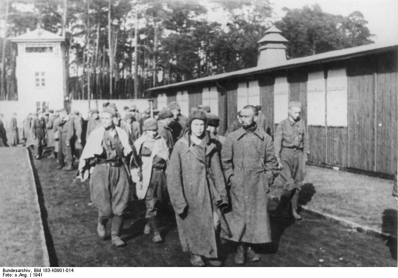 Soviet POW´s arriving in Sachsenhausen Concentration Camp