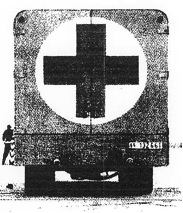 "Alleged ""Gas Van of the SS"" camouflaged as a Red Cross vehicle"