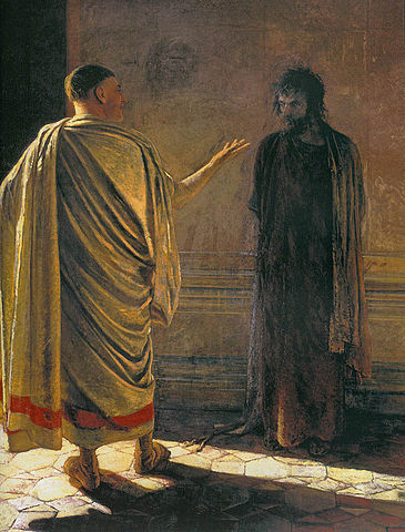 Pontius Pilate asks what is truth