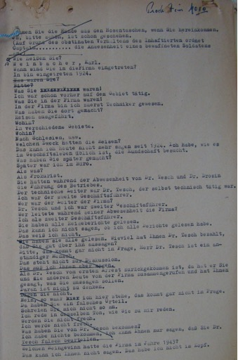 transcript of Weinbacher's interrogation