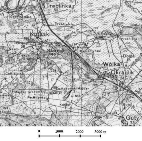 Treblinka-Wolka Okraglik area 1936