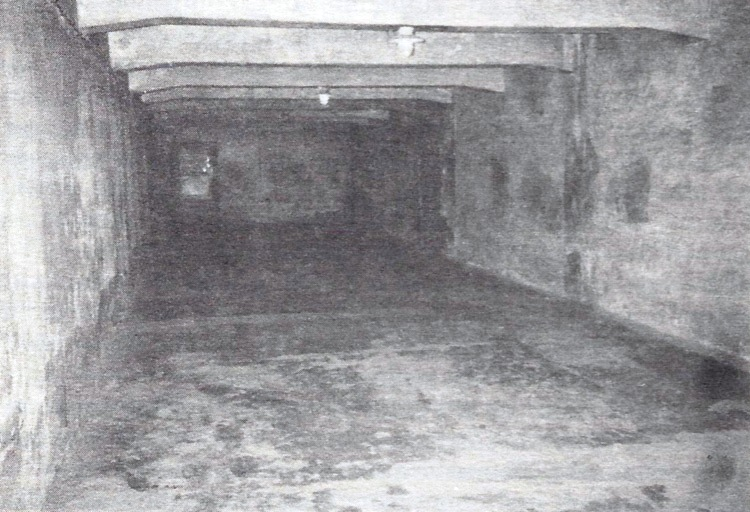 Auschwitz. Alleged gas chamber in Crematorium I