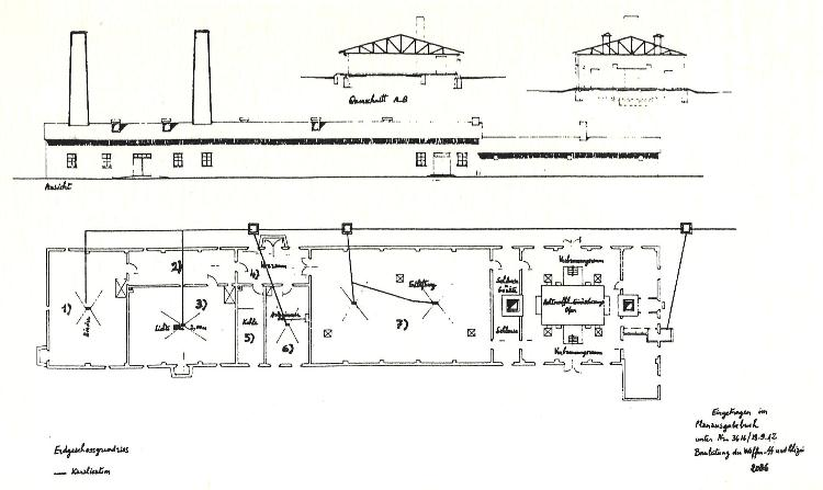 Auschwitz, Original Plan of Crematorium V