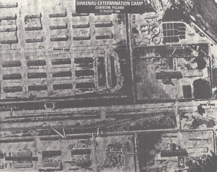 Aerial photographs of Auschwitz-Birkenau, taken by the Allies on 25 August 1944