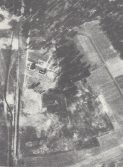 Air photo of the Treblinka II camp, Oct. 1944