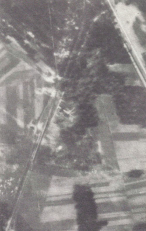 Air photo of the Treblinka II camp, Sept. 1944
