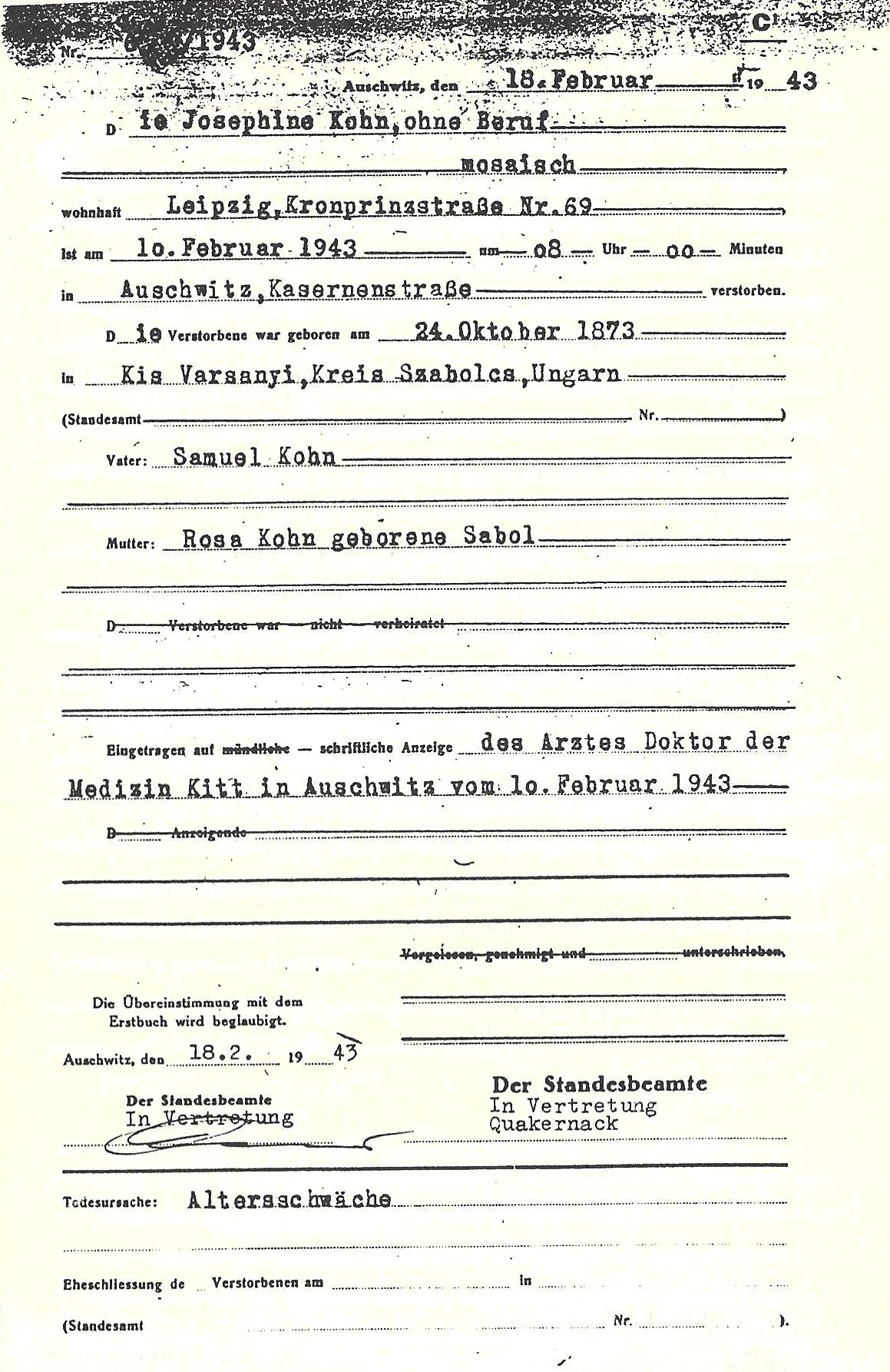 Codoh Pages From The Auschwitz Death Registry Volumes