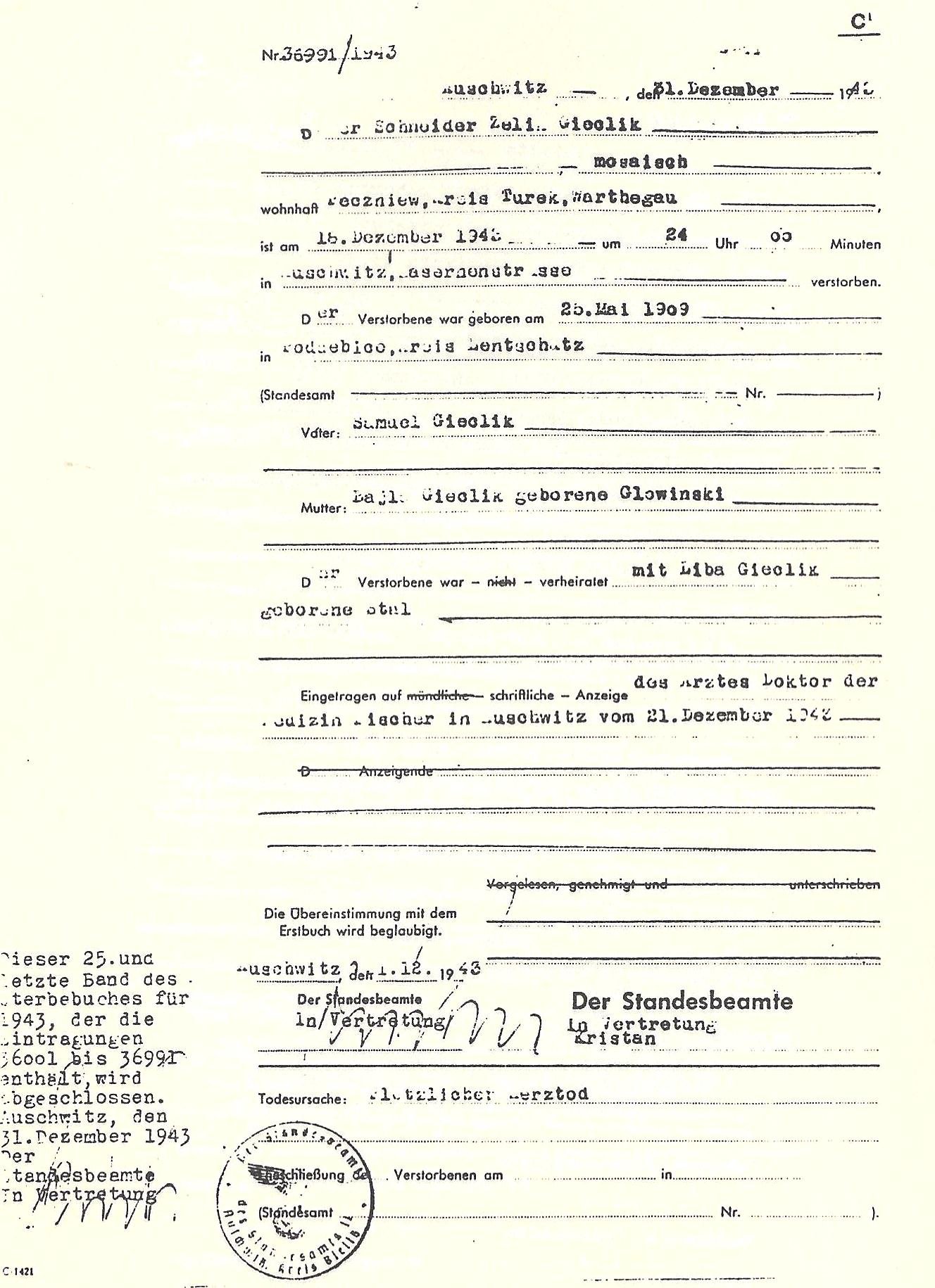 Codoh pages from the auschwitz death registry volumes page from the auschwitz death books 1betcityfo Choice Image