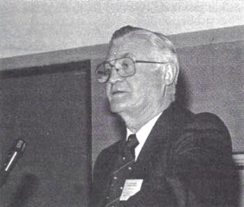 Doug Collins addresses the Tenth IHR Conference (1990), in Washington, DC