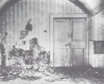 The half-cellar room in the Ipatiev house where the imperial family was murdered