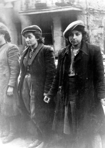 Young women fighters rounded up during the 1943 German action against the Warsaw ghetto