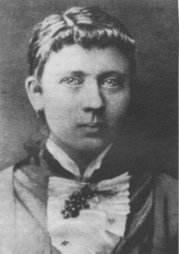 Hitler's mother, Klara, at about the time of her marriage in 1885