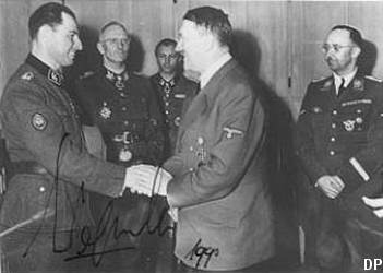 Leon Degrelle with Hitler, 1944