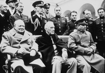 Churchill, Roosevelt and Stalin in Yalta, February 1945