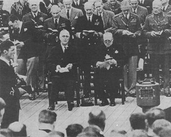 President Roosevelt and Prime Minister Churchill, August 10, 1941