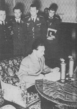 Joseph Goebbels announces Germany's offensive against the USSR