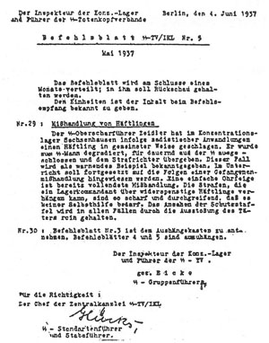 Germany 1937: abusing prisoners a crime