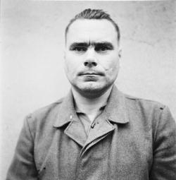 Josef Kramer, former Bergen-Belsen Commandant, in British captivity