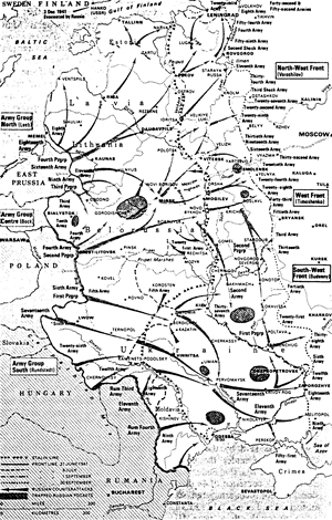 German advance into Soviet Russia, June 22 to September 30, 1941, map