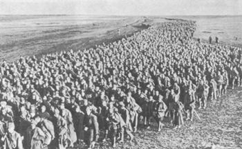 Soviet PoWs behind the German lines, 1941