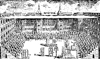 This Inquisitional tribunal sentenced 18 Marranos to be burned alive, Madrid, June 30, 1680