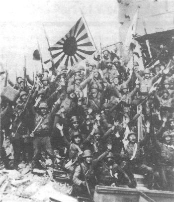 Japanese soldiers in Shanghai, China, November 1937