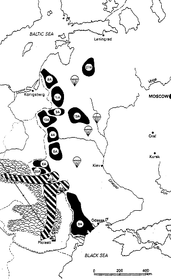Soviet army deployment against Europe in early 1941