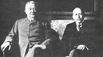 Cecil Rhodes (left) and Alfred Beit: the 'gold-bugs'