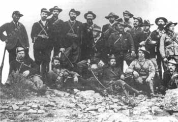 Boer guerilla leader General Jan Smuts with his commando unit