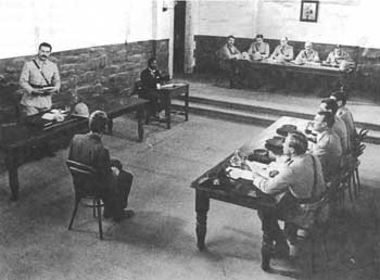 Courtroom scene from the 1980 Australian film 'Breaker Morant'
