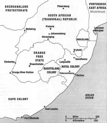 Map of Southeastern Africa