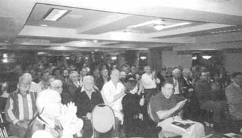 Attendees at the special IHR meeting with David Irving, April 29, 1999.