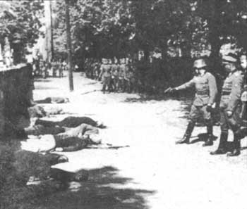 Execution of partisans in Serbia, 1941
