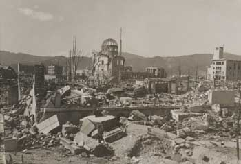 Hiroshima in the wake of the atomic bombing of August 6, 1945