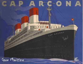Advertisement poster of the Cap Arcona