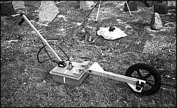Ground penetrating radar (GPR) device used by Australian engineer Richard Krege to search for evidence of mass graves at Treblinka