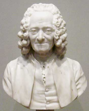 Bust of Voltaire (François-Marie Arouet, 1694-1778)