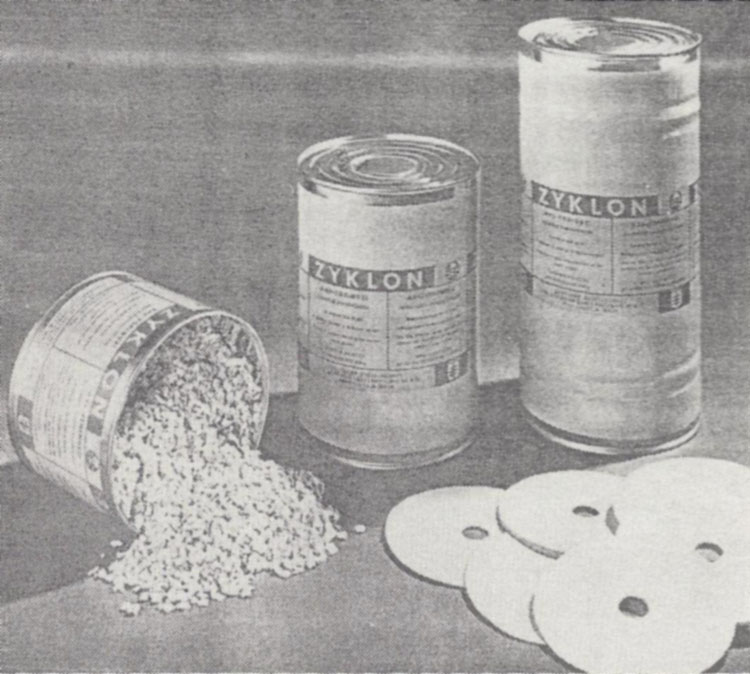 Zyklon containers and their contents