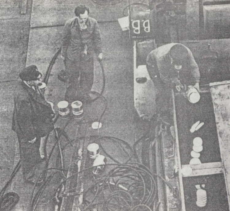 Fumigation of ship with Zyklon
