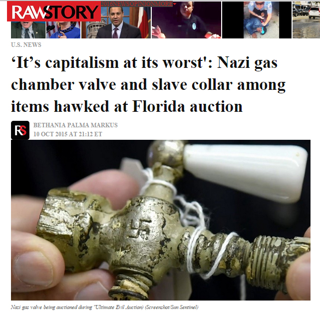 Nazi Gas Chamber Valve Fraud