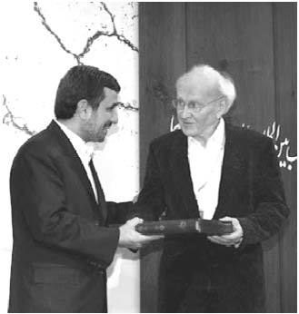 Iranian President Ahmadinejad and Robert Faurisson