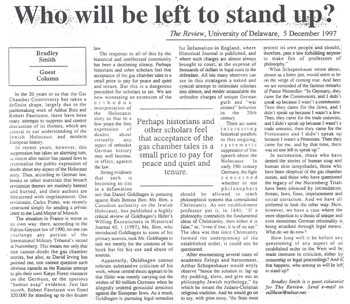 'The Review,' University of Delaware, 5 December 1997