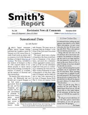 SMITH'S REPORT #218, December 2015, is now online