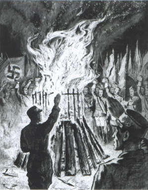 Book burning Munich 1933